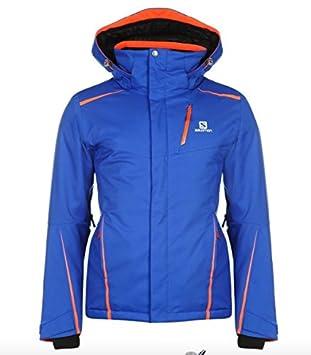 Salomon Herren Ski Jacke Blau Orange (S): : Sport