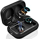 MYCARBON X10Plus True Wireless Earbuds,Bluetooth Headphones,Bluetooth 5.0,IPX7 Waterproof Noise Cancelling Earphones,Deep Bass TWS