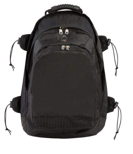 Champion Sports Deluxe All Purpose Backpack (Black, 13 x 20 x 10-Inch)