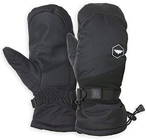 Winter Snow & Ski Mittens with Wrist Leashes - For Skiing, Snowboarding, Shoveling - Fits Men & Women