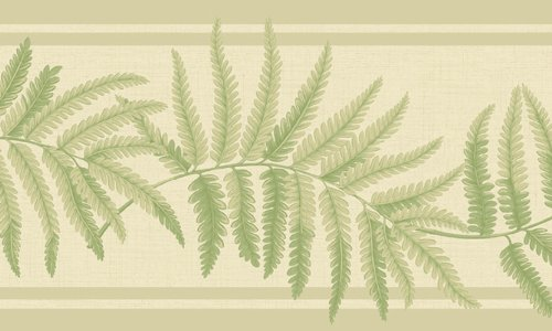 Waverly 5513234 Garden White and Green Tropical Fern ()