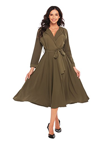 Zeagoo Women Fit and Flare Midi Pleated Swing Casual Long Maxi Skater Dress ()