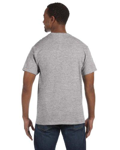 Hanes  Herren T-Shirt Grau Light Steel