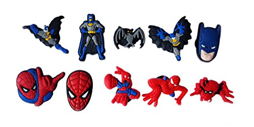[AVIRGO 10 pcs Shoe Charms Set # 122 - 1] (Batman Forever Catwoman Costume)