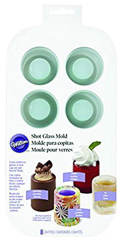 Wilton Round Silicone Shot Glass Mold, 8-Cavity (Ice Shot Glass)