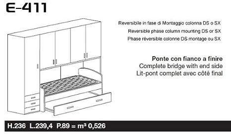 Istruzioni Montaggio Cameretta Ponte.Sconosciuto Cameretta Armadio Ponte 1 Colonna Con Divano