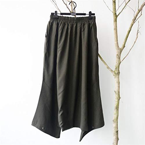 Jeans Cintura ASHOP Yoga de de Pantalones Impreso Festival de Boho Ocio Estilo Mujer Baggy Gris Fitness Pantalón Cintura de Leggings Cordón Alta Pantalones Vaqueros 7wq85