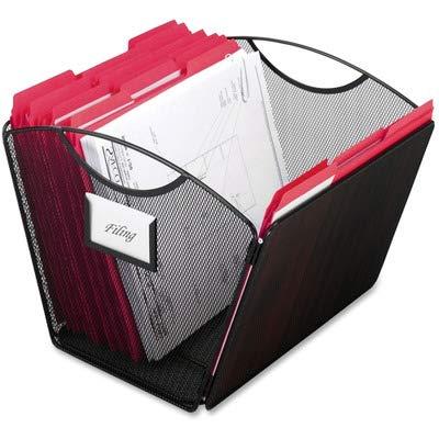 SAF2162BL - Safco Onyx Mesh Desktop Tub File Organizer