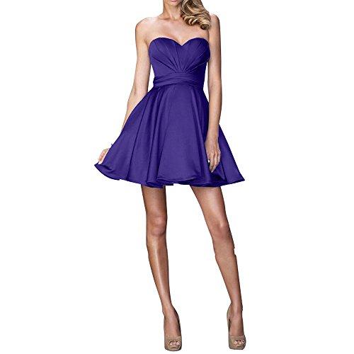 Lila Einfach Abendkleider mia Mini Brau Tanzenkleider Festlichkleider Partykleider Cocktailkleider Brautjungfernkleider La Kurzes EWPqf6nn