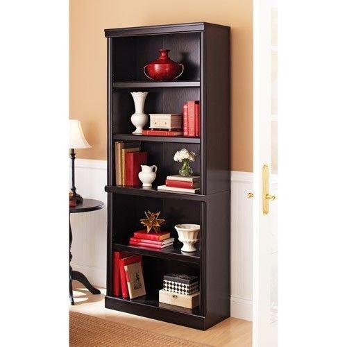 (Ashwood Road 5 shelf Bookcase (Estate Black))