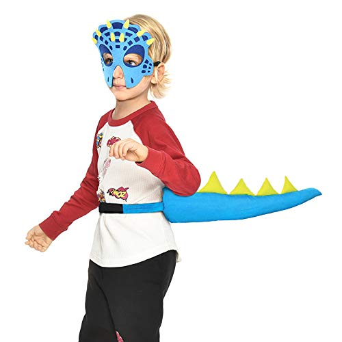 Dragon-Tail for Kids with Mask - Boys Girls Dinosaur-Costume Dress Up Party -