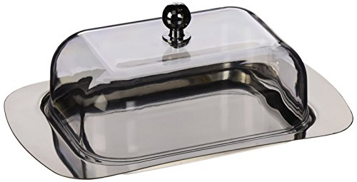 ExcelSteel #299 Stainless Steel Butter Dish by ExcelSteel