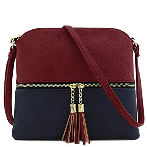 - Women Envelope Bag Tassel Zipper Leather Shoulder Bag Messenger Crossbody Handbags Fashion Casual Mini Seashell Bag