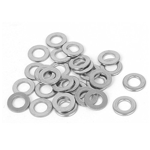uxcell Stainless Steel Flat Washer Crush Spacer Seal Ring M5x10x1mm 28pcs