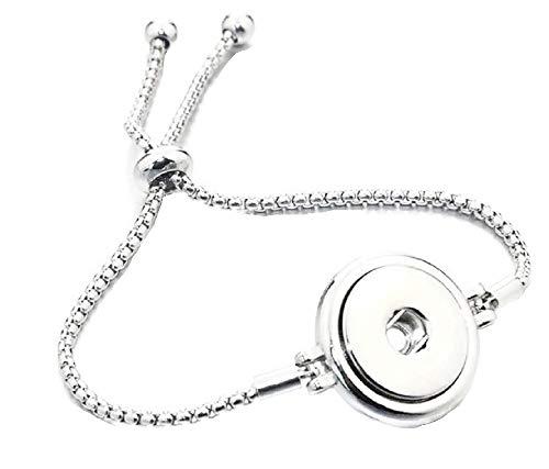 Pizazz Studios Adjustable Snap Charm Slider Bracelet 18mm 20mm ()