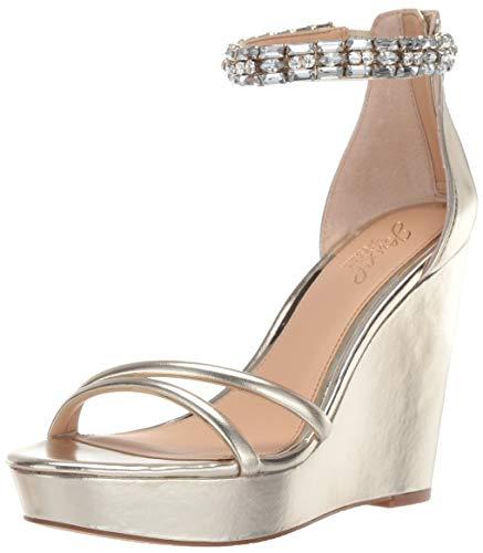 Jewel Badgley Mischka Women's KATHLEEN Sandal, gold/metallic, 9.5 M US from Jewel Badgley Mischka