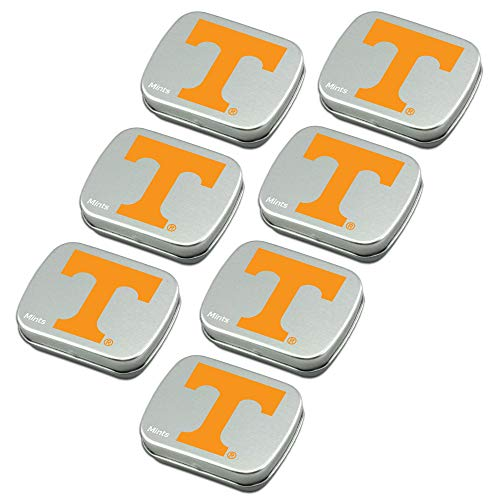 (Worthy Promo NCAA Tennessee Volunteers Party Favors Sugar-Free Peppermint Candy Mint Tins)