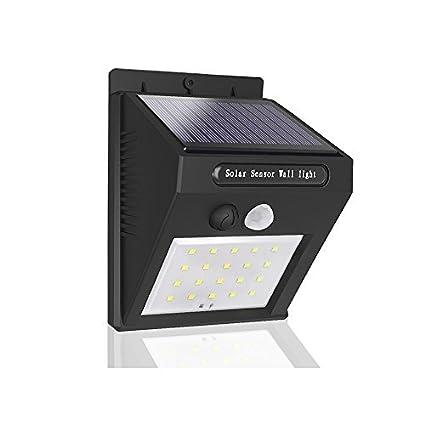 Luz Solar LED exterior con Sensor Movimiento, mocobe Lámpara Solares a prueba de agua Outdoor