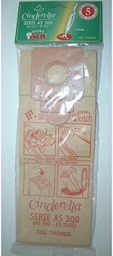 Polti 5 bolsas bolsas aspiradora escoba Cinderella 300 AS300 AS303 ...