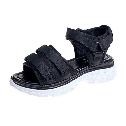 Toe Chaussures Dick yalanshop Soled Platform Plates Spell Étudiant Dames Open Sandales Chaussures 1Color Chaussures Velcro qFwtnwR1pS