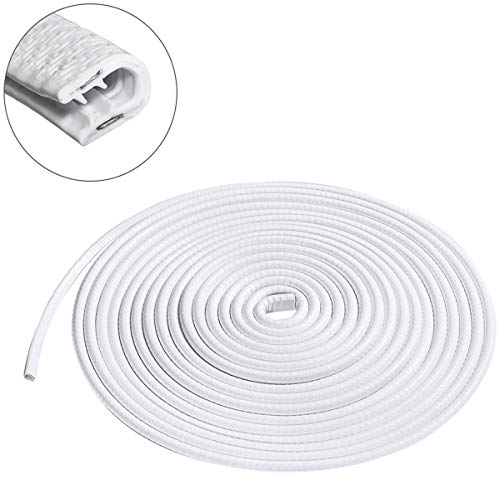 MATCC Car Door Edge Guards 13Ft(4M) U Shape Edge Trim Rubber Strip Seal Protector (No Glue Required) Car Protection Door Edge Fit for Most Car White