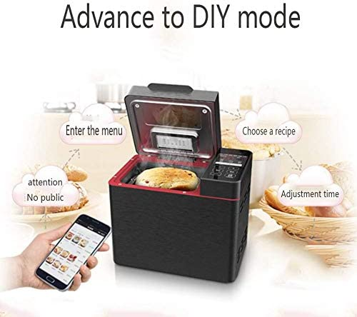 LUSHUN Machine à Pain, 22 programmes, 3 degrés de Cuisson différents, Fonction réchauffage, minuterie, pour Yaourt, Pain sans Gluten, gâteaux, Antiadhésif