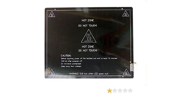 HICTOP Impresora 3D 3mm 12V plataforma calefactada MK3 aluminio ...