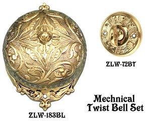 Recreated Interior Bell For Victorian Twist Doorbell SET