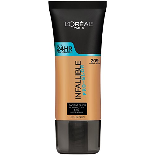 L'Oréal Paris Infallible Pro-Glow Foundation, Caramel Beige, 1 fl. oz. (Finish Caramel Medium)