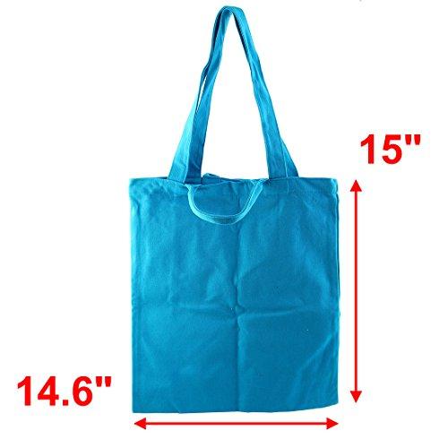 sourcingmap Kosmetik Kleidung Inhaber Verbrauchsmaterialien Lagerung Einzelne Schulter Segeltuch Tragetasche Blau