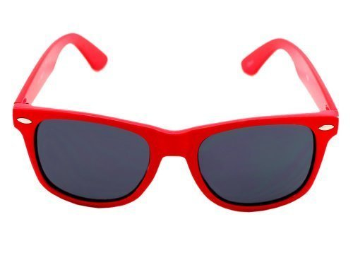 H2W Vintage Wayfarer Style Sunglasses Dark Lenses Red Frame OneSize, - Price Sunglasses Mj Sport