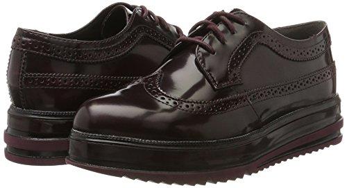 Brush Rojo bordeaux Mujer Oxford De Cordones 23700 Tamaris Para Zapatos 1qzvqp