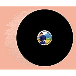 Record Wedding Song Guest Book Alternative - Your Photo Wedding Guest Book - First Dance Lyrics - Vinyl Record Guest Book Print - You Provide Song Lyrics -Unframed-20x24 - Approx 50-100 Sigs