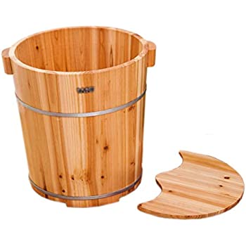 Amazon Com Zabrina Cedar Wood Foot Soak Tub Soaking Basin