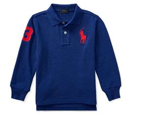 (Polo Ralph Lauren Little Boy's Long Sleeve Big Pony Mesh T-Shirt, Royal Blue)