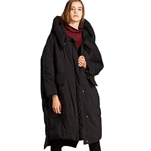 h De Veste Mode En Couleur Unie À Femmes Capuchon Simple Pour La Black Manteau Duvet Femmes 1d5IqfUdw
