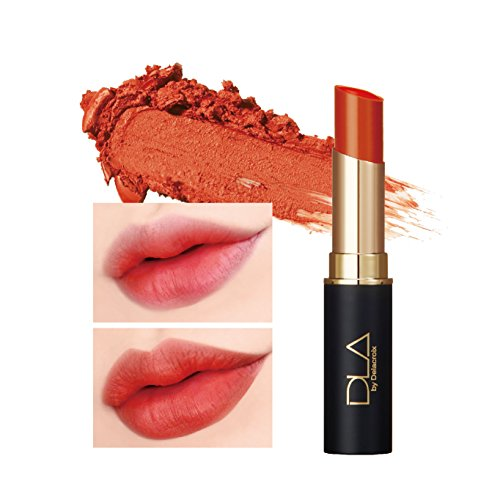 DLA Power Matte Lipstick 4.5g #1 Peach Caramel - High Adhesive Thin Layer Fitting Melting Matte Lipstick, Vivid Color with Single Touch ()