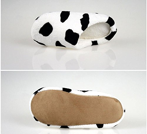Maybest Lovely Warm Coral Velvet House Slippers Closed Toe Floor Slippers Cow D5NDvrJrLf