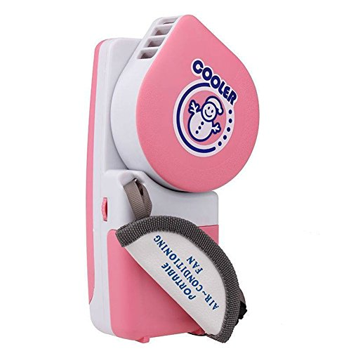 Yscysc Cooling Mini Fan Electric Rechargeable,Handy Cooler Fans Air Conditioner,Potable And Adjustable For Traveling-Battery Or USB,Pink