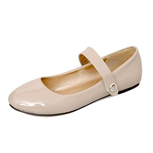 colores se mujeres zapatos y con Flats SJJH grandes Jane plano 4 y casan Las con cómodos albaricoque de corte 1z4qwF