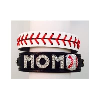 new Black Rhinestone Baseball MOM Bracelet Set save more