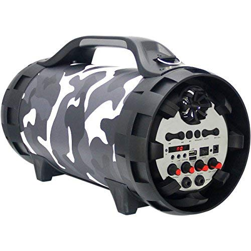 Blackmore BTU-5002 Urban Camo Portable, Rechargeable, 2way, PA -Music Player with Bluetooth connectivity, built in Mp3 player and LED illumination