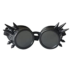 Spiked Retro Cyber Goggles Steampunk Welding Goth Cosplay Vintage Goggles Rustic