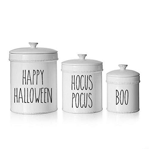 Moira Rae Dunn Inspired Happy Halloween Hocus Pocus Boo Vinyl Decal Farmhouse Decor Canister Decal Vinyl Decal Holiday Decor Holiday -