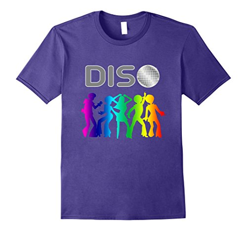 Mens Funny Disco Lover T-Shirt Colorful 70s 80s 3XL Purple (70s Or 80s Clothing)