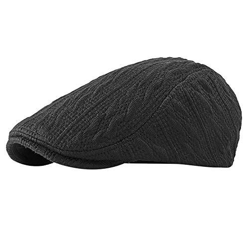 c4444b9690569d Hat for Baby Girl Winter,Winter Men Solid Color Vintage Ajustable Gatsby  Peaked Cap Newsboy