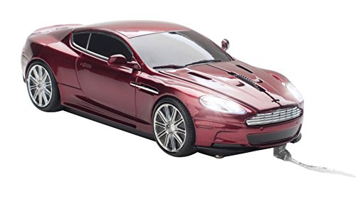 Click Car CCM660516 Aston Martin DBS Wired Optical Mouse, Magnum Red