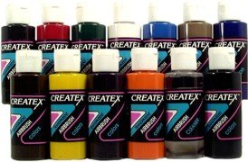 - TRANSPARENT 12 CREATEX AIRBRUSH PAINT COLORS SET