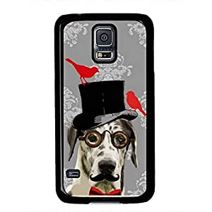 iCustomonline Funny steampunk dog Cover Case for Samsung Galaxy S5 PC Material Black