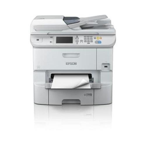 Epson WorkForce Pro WF-6590 Network Multifunction Color Inkjet Printer, 24ppm Black/Color, 4800x1200 dpi, 580 Sheet Standard Input Tray - Print, Copy, Scan, Fax (Fax Tray)